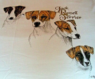 "Jack Russell Terrier T-shirt  "" White "" 2XL ( 50 - 52 )"
