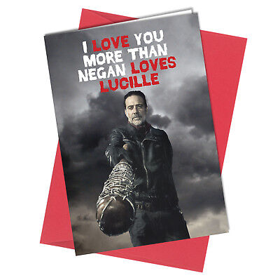 Funny rude walking dead christmas card negan comic horror 432 valentine birthday walking dead greeting card boy girl humour funny rude m4hsunfo