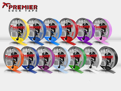 *BRAND NEW* 2 x PREMIER SOCK TAPE PST 19MM PRO ES TAPE 33M ROLL -VARIOUS COLOURS