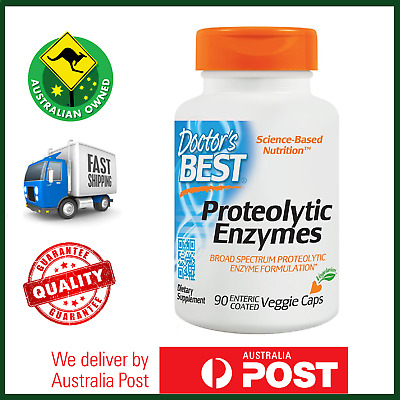 Proteolytic Enzymes 90 Veg Caps by Doctor's Best - Bromelain, Serrazimes AU NOW