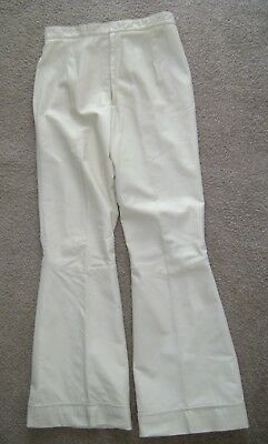 1960's Buttery Soft Leather Hippy Bell Bottom  Women's Pants! 28 x 32.5!