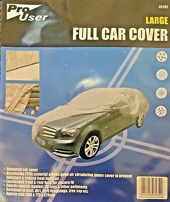 Universal Full Car Cover, Elasticated, Breathable, Large, 480 X 175 X 120Cm's