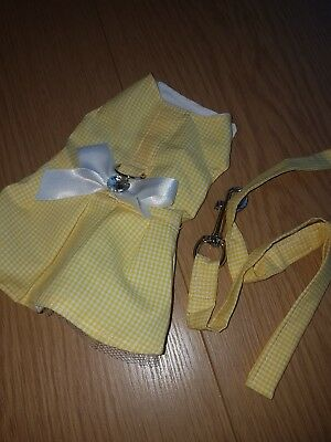 Hand made Dog Dress harness & lead small Chihuahua size