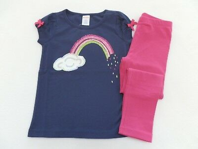 Gymboree Girls Outfit Rainbow T-Shirt w/matching Pink Leggings sz 4 5 6 7 8 10