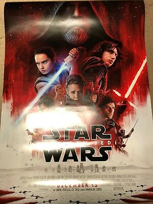 MINT Star Wars VIII Last Jedi Final Theatrical Double Sided DS Poster 27x40 D