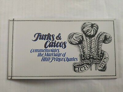1981 Royal Wedding Charles & Diana MNH Stamp Booklet Turks & Caicos