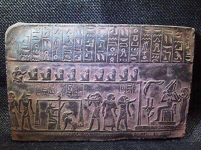 ANCIENT EGYPT EGYPTIAN ANTIQUE Osiris Afterlife Stela Stele Relief 1285-1275 BCE