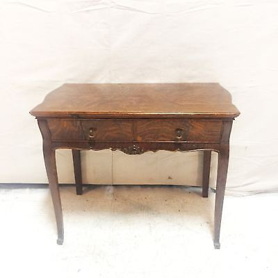 Antique Oak Console Table with Drawer $325