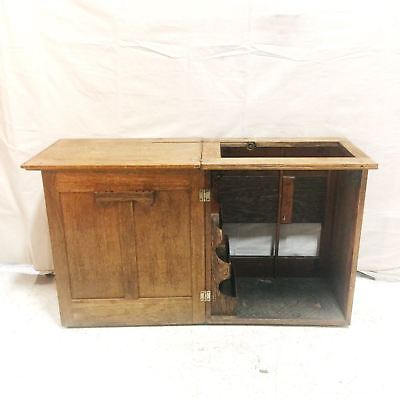Antique Victorian Oak Sewing Machine Table and Cabinet $345