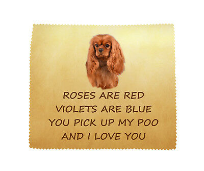 Cavalier King Charles Spaniel Cloth Fun Novelty Gift FROM THE DOG - Ruby