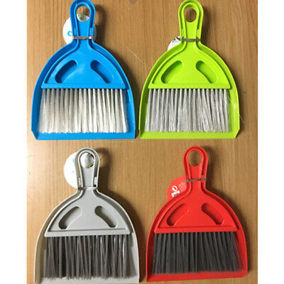 Mini Dust Pan & Brush set Easy Cleaning Office Car Tidy home Kitchen Tabletop