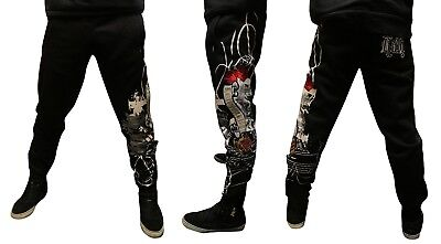 Kali Rap Felpa Hiphop Black King Pantalone Fleece Rose Nero Tuta pRprwzq
