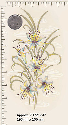 """1 x Waterslide Ceramic decal for Glass. Flowers Floral Approx. 7 1/2"""" x 4"""" P18a"""