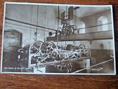 Big Ben  Clock workings, Westminister, walter scott RPPC Posted 1937