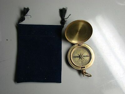Stanley London Pocket Compass Solid Brass Antique Reproduction
