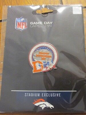 Denver Broncos VS New England Patriots Game Day Pin November 12, 2017