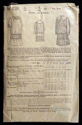 1900 1910 Rare BUTTERICK Sewing Pattern GIRLS' RUSSIAN BLOUSE DRESS Complete N/R