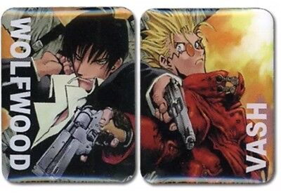 Trigun Pin Set Vash & Wolfwood (Set of 2) Anime Licensed ge50054 AUTHENTIC NEW