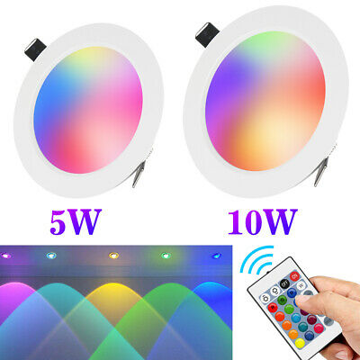 Dimmable 5W/10W RGB Ultraslim LED Recessed Panel Ceiling Down Light for Party