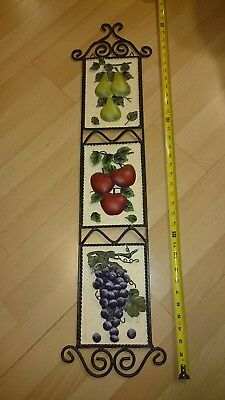 Home Interior fruit wall plaque pears/apples/grapes