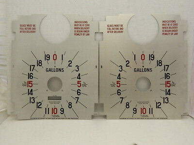 Tokheim 36B Gas Pump Clock Face Dial Face Plates Parts Pf-120