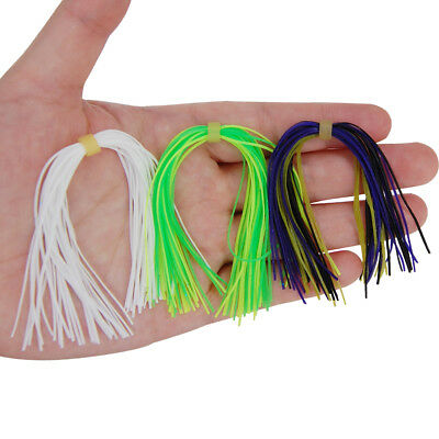 10 Bundles Soft Silicone Skirts For DIY Spinnerbaits Buzzbaits Rubber Jig Lures