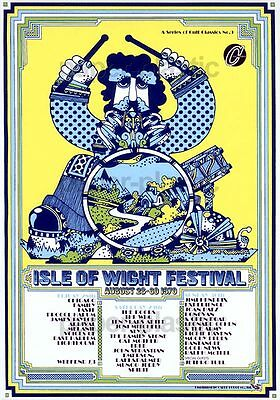 MESSAGE TO LOVE ISLE OF WIGHT FESTIVAL 1970 Murray Lerner movie flyer Japan 1999