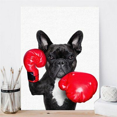 Dog Canvas Oil Painting Home Living Room Background Art Wall Picture Decor