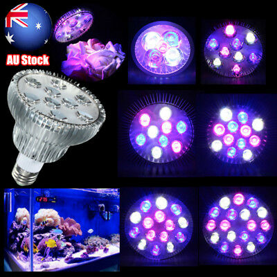 E27 15/21/27/36/54W PAR30/38 LED Coral Reef Plant Grow Light Fish Tank Aquarium