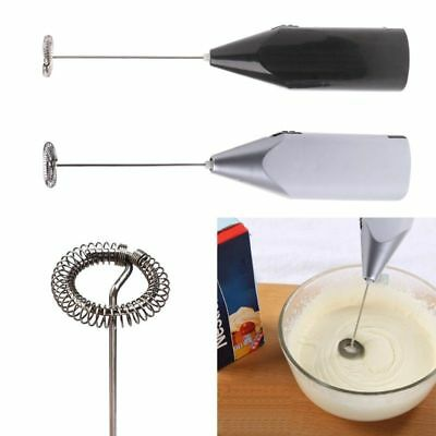 Milk Frother Whisk Handheld Battery Operated Electric Coffee Mixers Egg Beaters