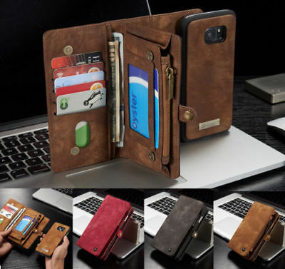 Leather Removable Wallet Magnetic Flip Card Case Cover For Samsung Galaxy S7/S7+