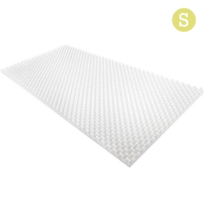 Deluxe Egg Crate Single Bed Mattress Topper 5CM Foam Underlay Protector Cover