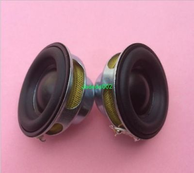 2pcs Full-range speaker 4Ω 5W 4ohm Rubber edge 40mm Round loudspeaker DIY audio