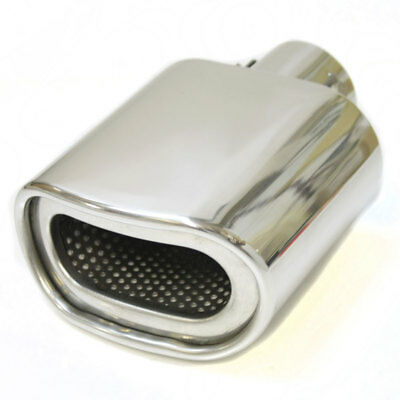 Universal Chrome Exhaust End Muffler Pipe Tip Trim Tail Stainless Steel Durable