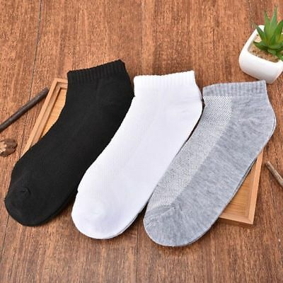 Mens Low-cut Boat Liners Socks Hosiery Mesh No Show Invisible Pure Color Sock