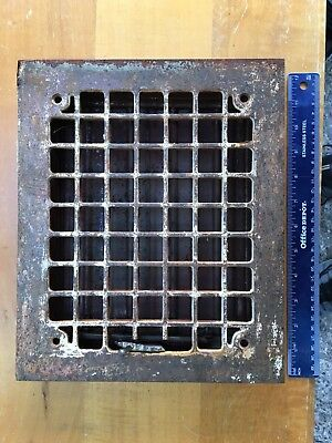 Antique Vintage Wall Grate Heat Air Return Register Vent Cast Iron