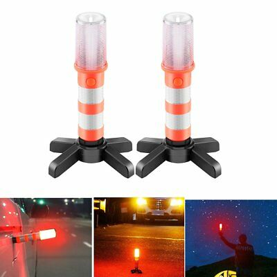 3 in 1 Road Warning Beacon LED Emergency Roadside Flares Safety Strobe Light L@