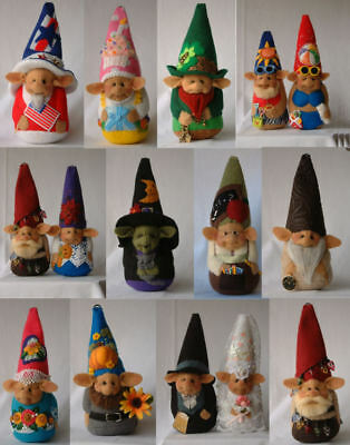 """*new* Cloth Art Doll (Paper) Pattern """"a Gnome For All Seasons"""" By Shelley Hawkey"""