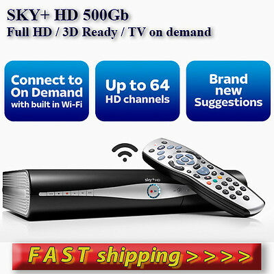 Sky+ HD box 500Gb - with built in Wi-Fi - FREE SHIPING