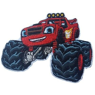 Blaze and the Monster machines Iron On Patch Sew on Embroidered transfer New