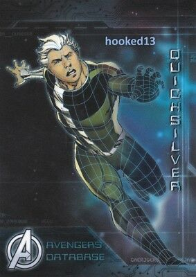 Marvel Avengers: Age of Ultron - Avengers Database Quicksilver Card