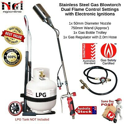 Garden Weed Blaster Blowtorch Burner Weeder Butane Gas Piezo Ignitions Roundup