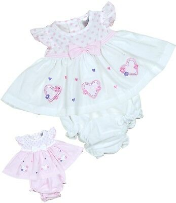 BabyPrem Preemie Early Baby Clothes Tiny Premmie Dresses White & Pink 000000