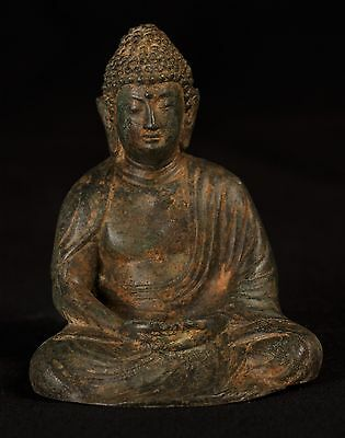 Antique Japanese Style Seated Meditation Buddha Statue - 11cm/4""