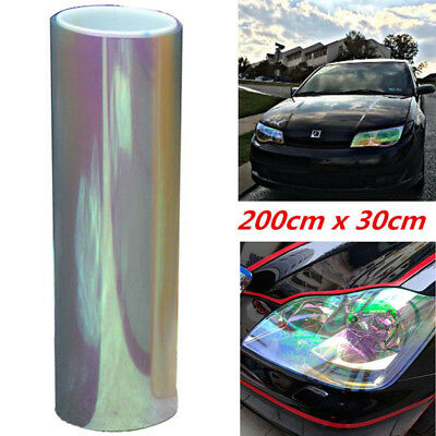 "12""x78"" Chameleon Clear Car Truck Headlight Tail/Fog Light Vinyl Tint Film Wrap"