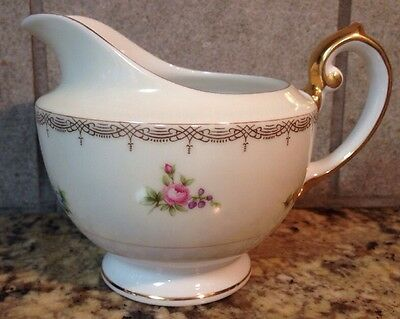 Meito Japan V2070 Fine China Creamer Beautiful Floral Swags Vintage