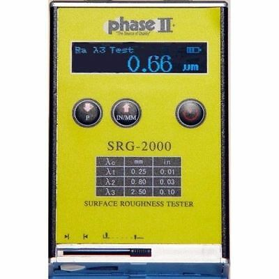 Phase II Portable Surface Roughness Tester Profilometer, #SRG-2000