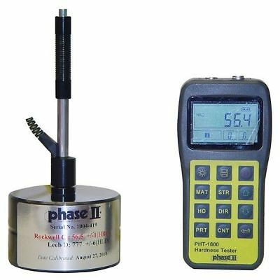 Portable Digital Hardness Tester Phase II Brand, NIST Traceble, #PHT-1800