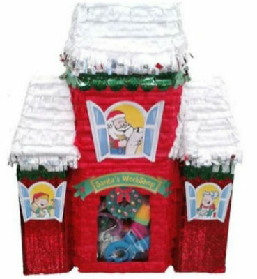 Santa's Workshop Pinata Birthday Or Party Game/ Decoration