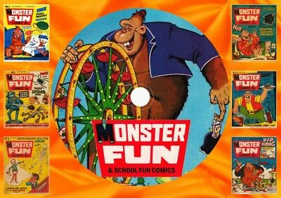 Monster Fun (Complete) + School Fun (Complete) UK Comics On DVD Rom